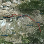 L'itinerario in Google Earth